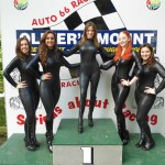 Jo Rhianna Laura Meg Rosie the gridl girls on the podium