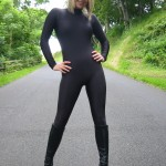 Milly in black spandex outfit