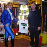 Milly with Andy Hire with Van Monster goodie bag
