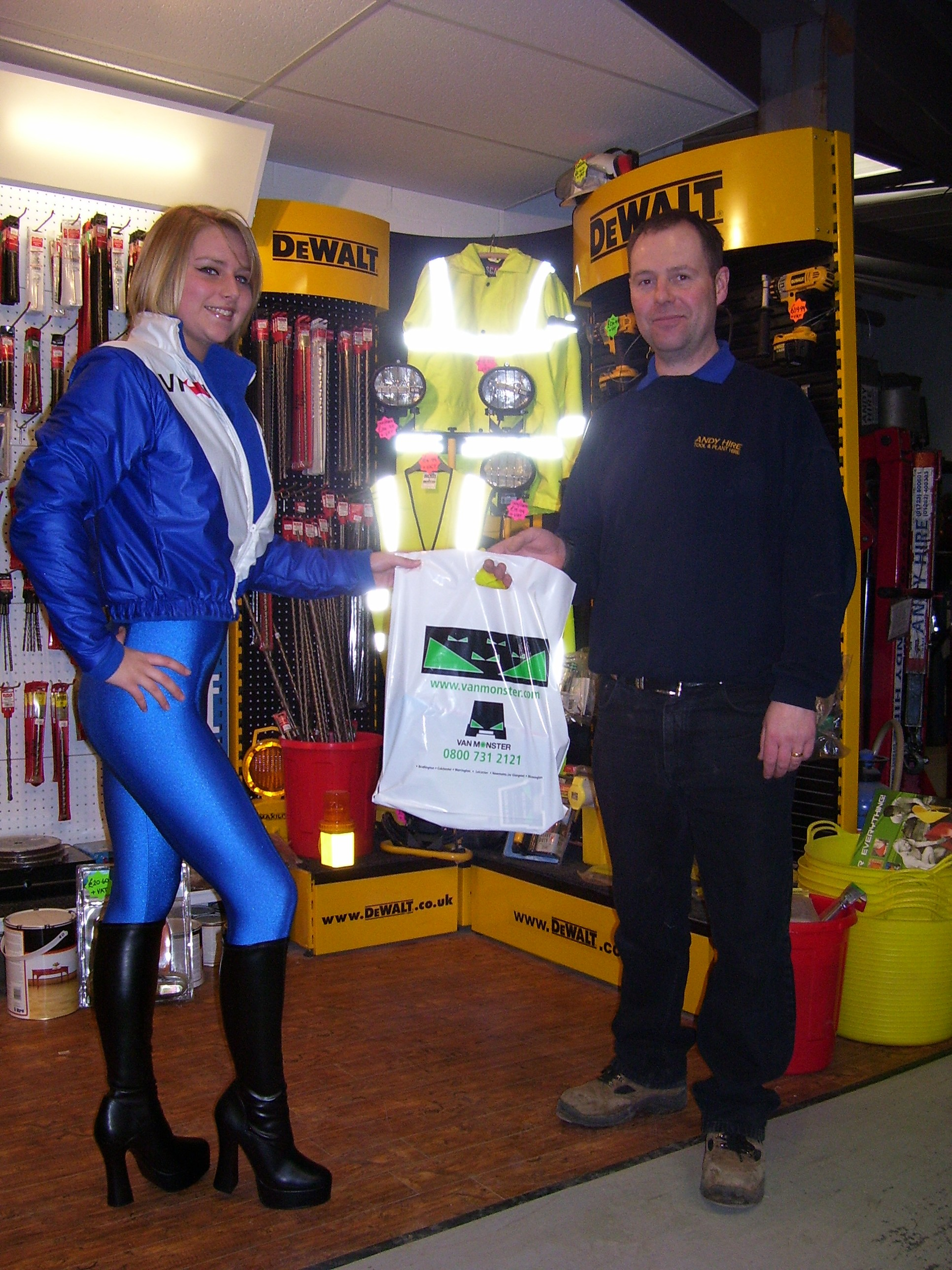 milly with andy hire with van monster goodie bag vf racing. Black Bedroom Furniture Sets. Home Design Ideas