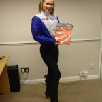 Milly with Bahco Catalogue at Transtools
