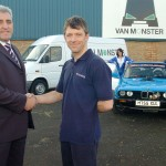 Paul Vaey and Van Monster with Sally and the BMW