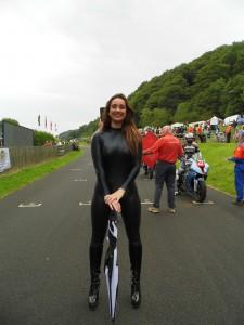 Rhianna on the starting line