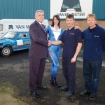 Sally with Paul Vasey at Van Monster