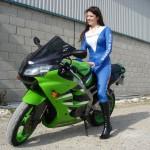 Tori Astride Kawasaki Motorcycle at Transtools