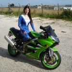Tori on Kawasaki Motorcycle